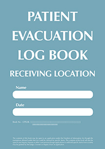 CPES Patient Evacuation Receiving Location Logbook